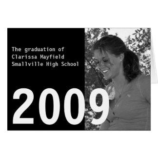カスタムな卒業の2009年の発表 カード