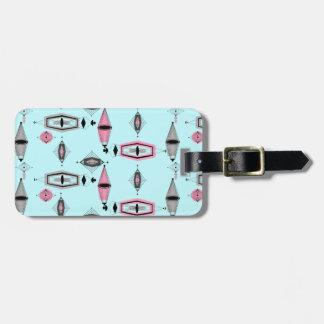 カスタムな原子ピンク及び灰色パターン荷物のラベル ラゲッジタグ