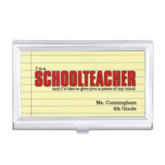 カスタムな名刺のための学校の先生の例 名刺入れ