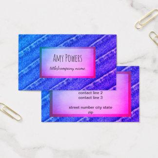 カスタムな名刺の倍は青および紫色味方しました 名刺
