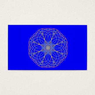 カスタムな名刺、万華鏡のように千変万化するパターンの曼荼羅の芸術2 名刺