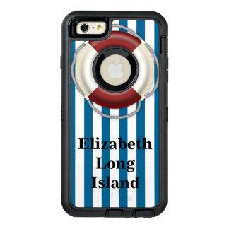 カスタムな場所および名前のビーチのデザイン オッターボックスディフェンダーiPhoneケース