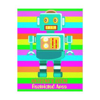 カスタムな多彩のロボット キャンバスプリント