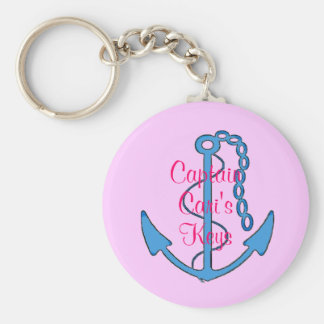 カスタムな大尉のPink Womens Keys Anchor Keychain キーホルダー