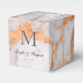 カスタムな大理石及び銅の結婚式の引き出物箱 フェイバーボックス
