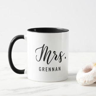 カスタムな夫人マグの結婚式の花嫁のギフトの原稿のモダン マグカップ