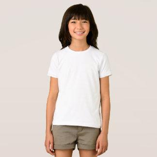 カスタムな女の子の基本的なアメリカの服装のTシャツ Tシャツ
