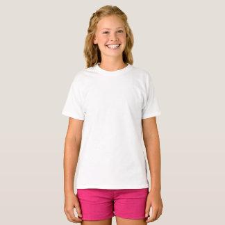 カスタムな女の子の基本的なHanesのTシャツ Tシャツ