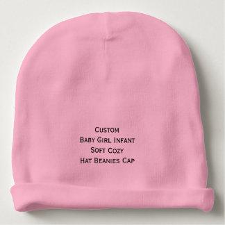 カスタムな女の赤ちゃんの幼児柔らかく居心地のよい帽子の帽子の帽子 ベビービーニー