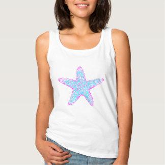 カスタムな女性のヒトデのワイシャツ! タンクトップ