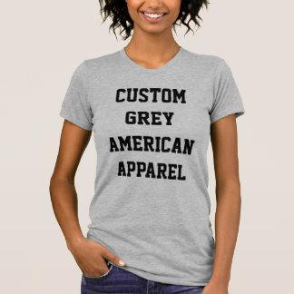 カスタムな女性のヒースの灰色の丸首のTシャツ Tシャツ