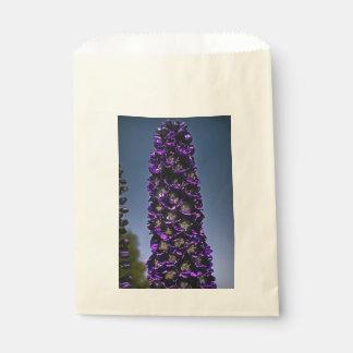 カスタムな好意袋の未知の紫色の花 フェイバーバッグ