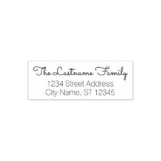 カスタムな姓および差出人住所-サクラメント セルフインキングスタンプ