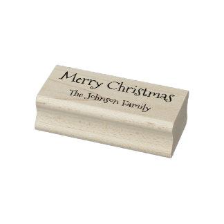 カスタムな姓のメリークリスマスの幸せな休日 ラバースタンプ