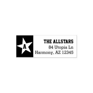 カスタムな姓|のモノグラムの星の差出人住所 セルフインキングスタンプ