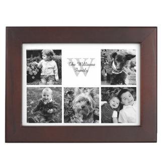 カスタムな家族写真のコラージュ ジュエリーボックス