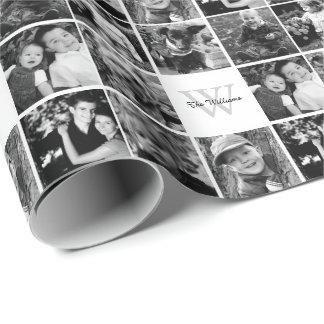 カスタムな家族写真のコラージュ ラッピングペーパー