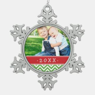 カスタムな家族写真の記念品の休日のオーナメント スノーフレークピューターオーナメント