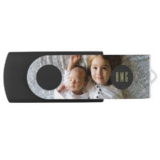 カスタムな家族写真|のモノグラム| USBフラッシュドライブ