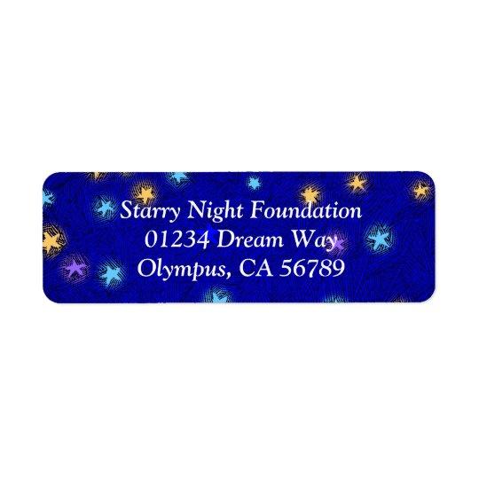 カスタムな差出人住所ラベルをエッチングする着色された星 返信用宛名ラベル