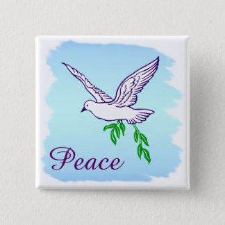 カスタムな平和はオリーブの枝ボタンによって潜りました 5.1CM 正方形バッジ