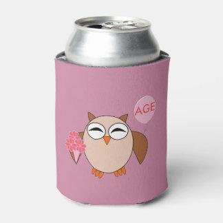カスタムな年齢の誕生日のフクロウのクーラーボックス 缶クーラー
