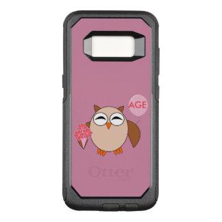 カスタムな年齢の誕生日のフクロウの電話箱 オッターボックスコミューターSamsung GALAXY S8 ケース