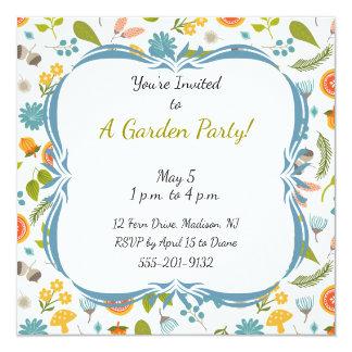 カスタムな庭のパーティの招待状 カード