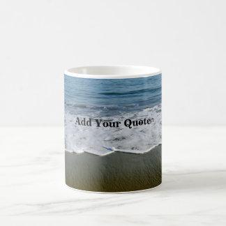 カスタムな引用文の波 コーヒーマグカップ