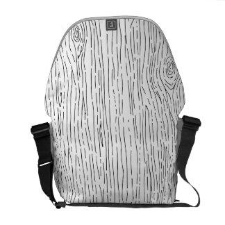カスタムな手描きの素朴な木製の穀物のメッセンジャーバッグ メッセンジャーバッグ