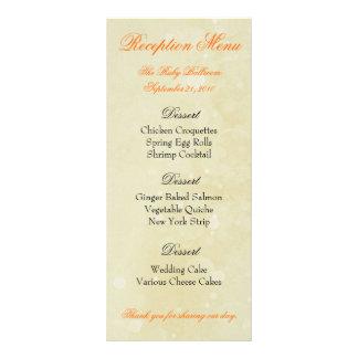 カスタムな披露宴メニュー-明るい黄色 ラックカード