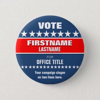 カスタムな政治ボタン 5.7CM 丸型バッジ