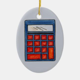 カスタムな数学の教師の計算機のクリスマスのオーナメント セラミックオーナメント