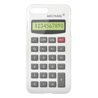 カスタムな文字が付いているクールなおもしろいの計算機パターン iPhone 8 PLUS/7 PLUS ケース