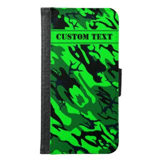 カスタムな文字が付いている迷彩柄のSmartphoneの外国の緑の財布 Galaxy S6 ウォレットケース