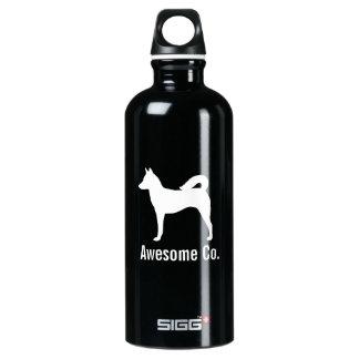 カスタムな文字が付いているCanaan犬のシルエット SIGG トラベラー 0.6L ウォーターボトル