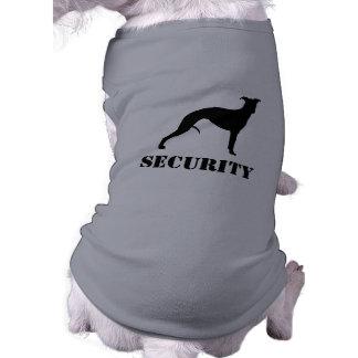 カスタムな文字が付いているWhippetのシルエット 犬用袖なしタンクトップ