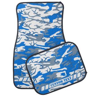 カスタムな文字との氷水の青い迷彩柄 カーマット