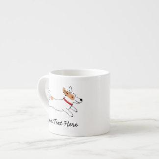 カスタムな文字を持つジャックラッセルテリアの漫画犬 エスプレッソカップ