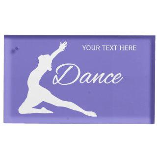 カスタムな文字及びカラーテーブルの帯出登録者を踊って下さい テーブルカードホルダー