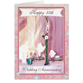 カスタムな文字記念日のお祝いカード カード