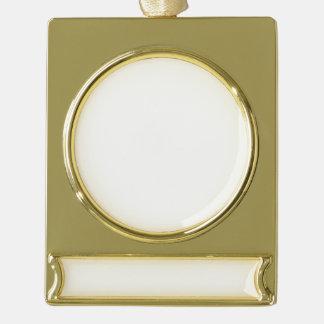 カスタムな旗のオーナメント-めっきされる金ゴールド ゴールドプレートバナーオーナメント
