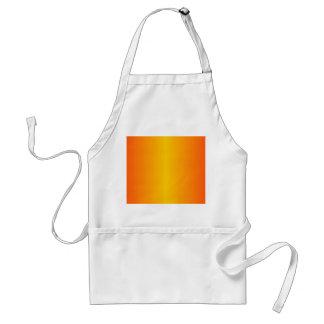 カスタムな暗闇-オレンジ黄色 スタンダードエプロン