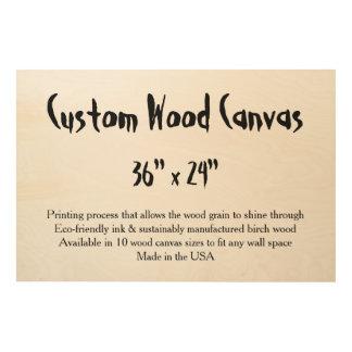 """カスタムな木製のキャンバス- 36"""" x 24""""大きい、横 ウッドウォールアート"""