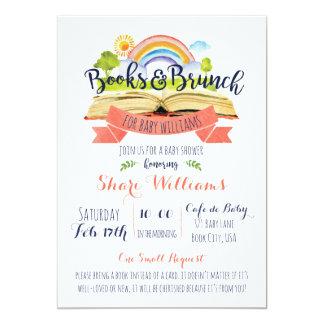カスタムな本およびブランチのベビーシャワーの招待状 カード