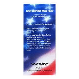 カスタムな棚カード、愛国心が強いデザイン ラックカード