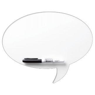 カスタムな楕円形のスピーチの泡ホワイトボード ホワイトボード