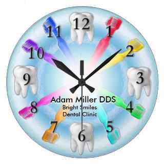 カスタムな歯科医の時計の虹 ラージ壁時計