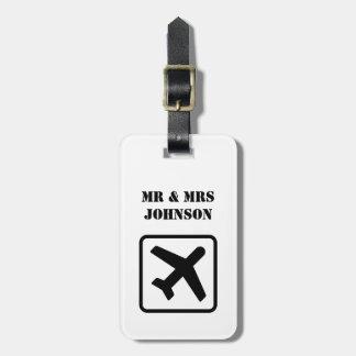 カスタムな氏および夫人飛行機旅行荷物のラベル ラゲッジタグ
