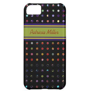 カスタムな水玉模様パターン iPhone5Cケース